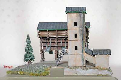 Z Scale Z Gauge Kibri Schotterwerk Steiner Gravel Mill Built from Kit