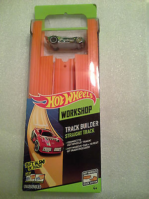Hot Wheels Track Builder Straight Track Includes 15 Feet of Track plus Car