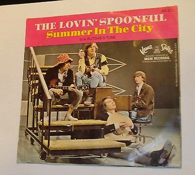 "The Lovin' Spoonful ~ 45 RPM ~ ""Summer In The City"" - Kama Sutra Records"