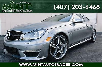 2012 Mercedes-Benz C-Class Base Coupe 2-Door 2012 Mercedes-Benz C63 AMG STAGE 3 WEISTEC SUPERCHARGED w/RED Interior