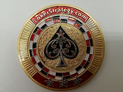 Golden POKERSTRATEGY Casino Poker Card Guard Cover Protector