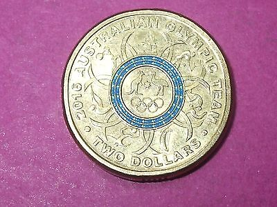 2016 Australian $2 Two Dollar Olympic Coin Blue