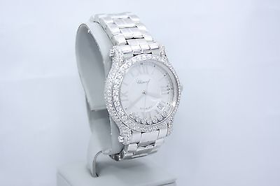 203b848c84829 Chopard Happy Sport Automatic 36Mm Stainless Diamond Encrusted Watch 278559- 3002