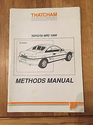 Toyota MR2 1990 Methods Manual Excellent Condition