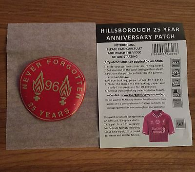 Liverpool FC Official Hillsborough 25 Year Anniversary Patch New