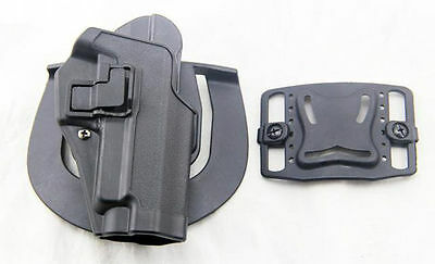 Army Tactical Blackhawk Right Hand Waist Belt Pistol Gun Holster P226 P229 Black