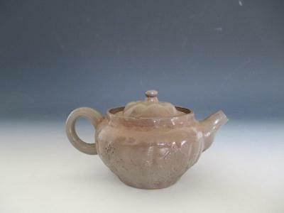Japanese old Bizen ware teapot w/sign/ tasteful style/ 4244