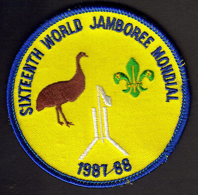 Boy Scout 16Th World Jamboree Australia 1987 1988 Patch Badge Embroidered