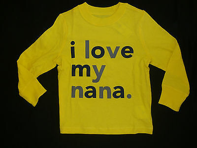 """OLD NAVY  """"I LOVE MY NANA"""" TEE SHIRT NWTS  """"PICTURE PERFECT"""" for PHOTO'S"""
