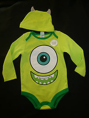 """Disney  Monsters Inc. """"mike"""" Bodysuit & Hat Nwts  Everyday Cute!!!"""
