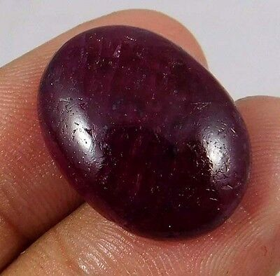 21.70 Cts. NATURAL FABULOUS DYED RUBY LOOSE CAB GEMSTONE (AQ890)