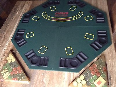 CASINO Choice Professional Poker Players Table Top Game With Chips