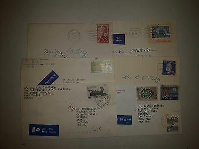 Canada Stamps Airmail Envelopes 6 Qnty