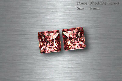 7x5 MM UNIQUE COLLECTION RARE NATURAL PINK RED ALMANDINE GARNET MATCHING PAIR !!
