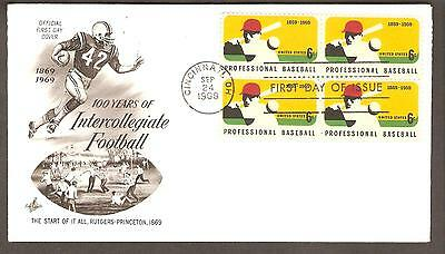 United States 1969 Professional Baseball Centenary (EFO) WRONG FDC Cover!