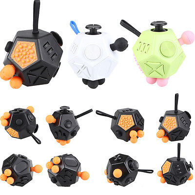 New Fun Magic Fidget Cube Anti-anxiety Adults Stress Relief Focus Kids Gift Toys