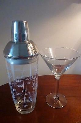 Good Quality Glass Boston Cocktail Shaker & Glass - 6 Recipes to Shaker  26.5 cm
