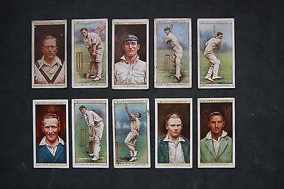 W D & H O Wills Ltd 1928 Cricketers 1928 Complete Set