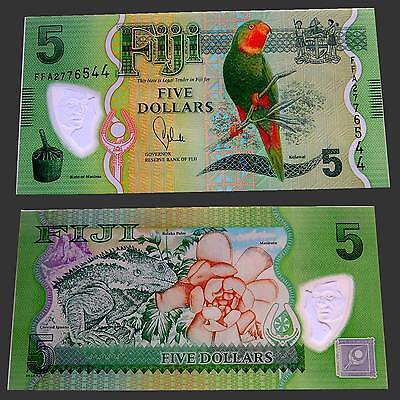 Fiji 5 Dollars 2012 ND Unc.Pick/KM:New (polymer) #