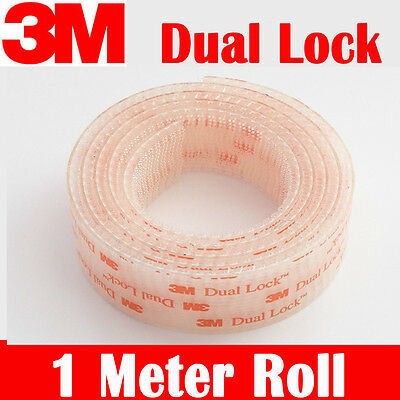 3M DUAL LOCK Reclosable fastener tape SJ3560 STRONG 1meter roll clear