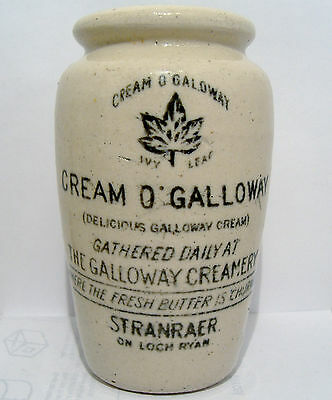 "Small-Size Cream of Galloway ""Ivy Leaf"" Cream Pot from Stranraer c1915"
