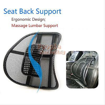 Car Office Seat Chair Massage Back Lumbar Support Mesh Ventilate Cushion Pad #P