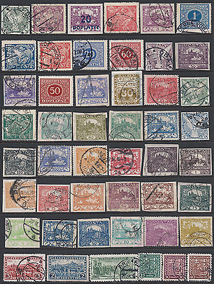 CZECHOSLOVAKIA: Early and later stamps on 3 scans.