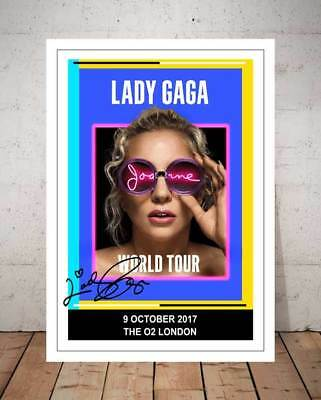 Lady Gaga The O2 London 9Th Oct 2017 Concert Flyer Autographed Photo Print
