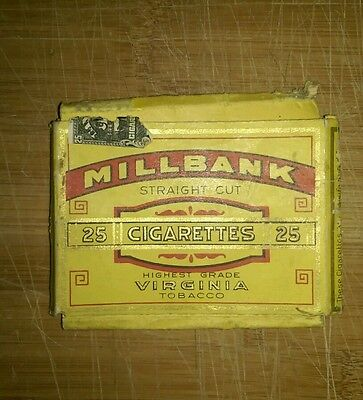 Millbank cigarette pack 25 empty antique