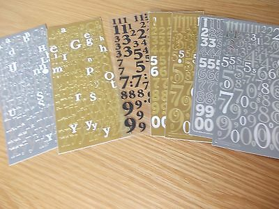 Letters and Numbers Embellishment Stickers