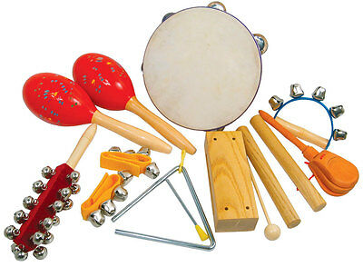 Large Children's Percussion Pack with Triangle, Tambourine, Claves, Maracas etc