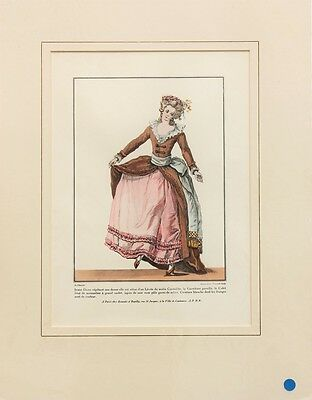 8 Large French Victorian Colour Fashion Prints, Costume, Style, Mounted