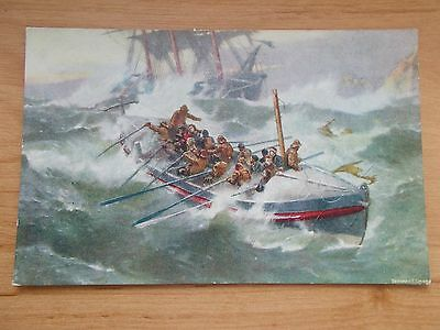 Vintage Postcard - Royal National Lifeboat Institution - Return Of The Lifeboat