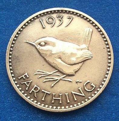 1937 King George Vi Farthing Coin 80Th Birthday