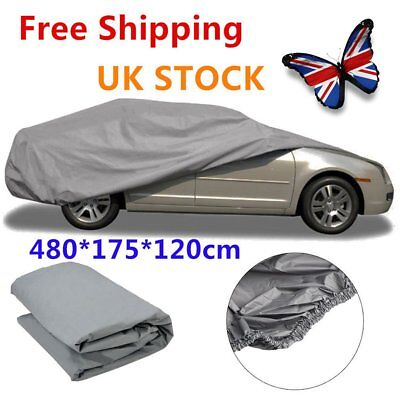 Large Size L Full Car Rain Cover UV Protection Waterproof Outdoor Breathable