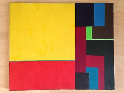 Original oil painting on canvas Abstract Color Field Art 'Jurisprudence' c.70 s