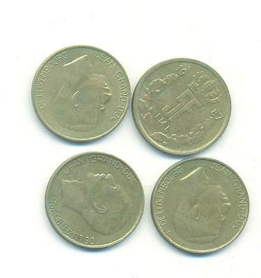 Very Nice Rare.luxembourg.4X5.francs.1987.1988.1989.1990.very Collectable.c.112