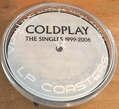 Coldplay (4) LP Coasters - The Singles 1999-2006