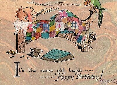 Rare 1920's Art Deco Birthday Greeting Card - Selling Lot Of Cards -Must See!!!