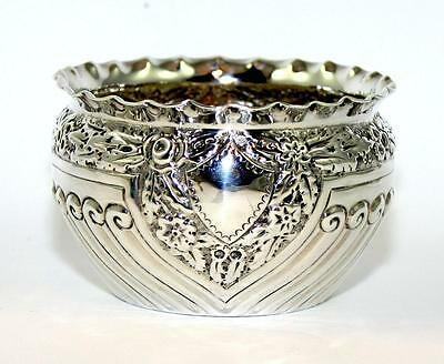 Antique Silver Repousse Bowl,  London 1891, Maker- Josiah Williams & Co, 81.74g