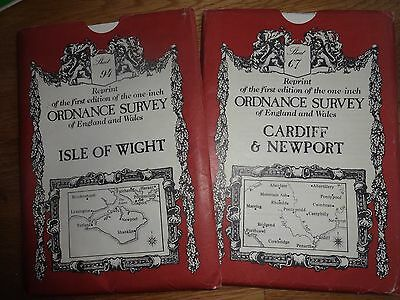 2 maps / isle of Wight & Cardiff & Newport /  david & charles / Paper / reprints