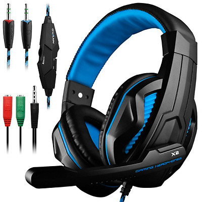 Gaming Headset,DLAND 3.5mm per PC stereo cuffia con microfono per PC gaming
