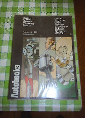 Mini 1959-1976 Autobook 777 by Kenneth Ball Owners Workshop Manual All Models