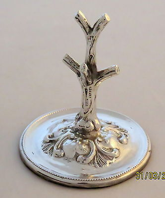 Collectable Edwardian Solid Silver Ring Tree Stand .1903 . S Blankensee Of Bham