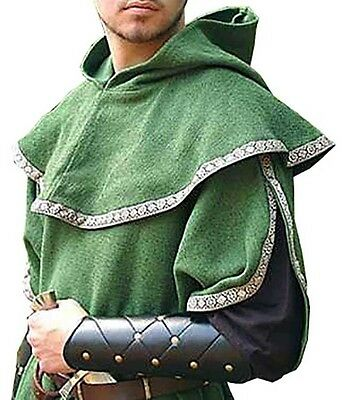 Green Over Tunic with Hood, MEDIEVAL, Archer, Elven,  FANTASY, LARP, COSPLAY