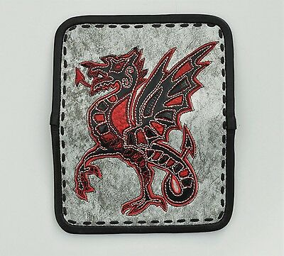 EDDIE BRAT LEATHER Celtic Dragon custom leather wallet