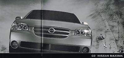 2002 Nissan MAXIMA Brochure with Color Charts: GXE,GLE,SE,