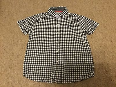 Age 5 Blue/white Short Sleeve Shirt From Next Excellent Condition