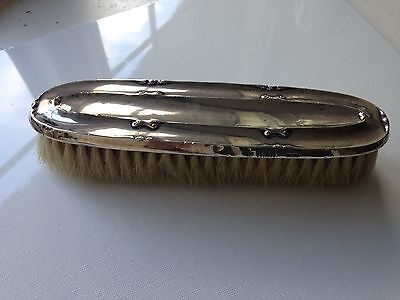 Large Solid Silver Geo V Clothes Brush Birmingham 1910