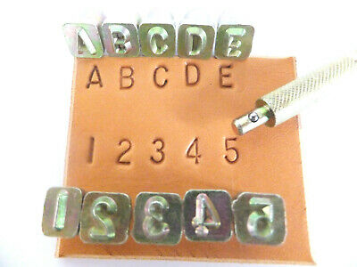 "1/4"" [6 mm] Simple Alphabet & Number Leather Stamping Set - Ivan /Craftool"